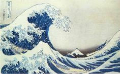 One of my favorite art pieces, the Japanese Wave.