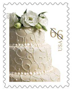 U.S. Postal Service reissues wedding cake stamp