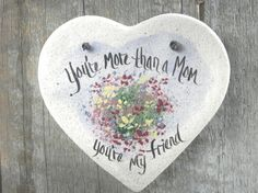 Heart Salt Dough Ornament / Mother's Day / by cookiedoughcreations, $5.95