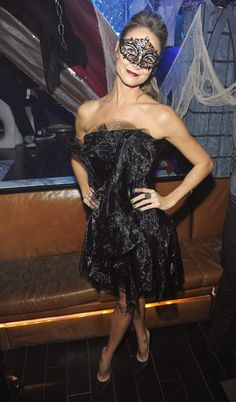 Stacy Keibler hosted a Halloween masquerade party
