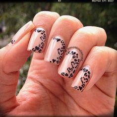 hearts - nail design