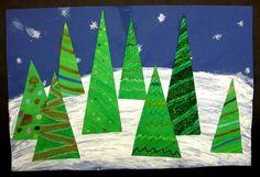 Near & Far Christmas Trees