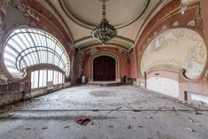 """According to photographer Romain Veillon: """"During a recent trip to Romania, I had the chance to shoot the abandoned casino in Constanta. As a pearl watching… Abandoned Buildings, Abandoned Castles, Abandoned Mansions, Old Buildings, Abandoned Places, Art Nouveau, Art Deco, Architecture Old, Beautiful Architecture"""
