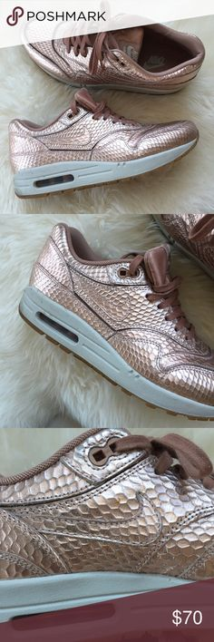 e31ce67f74d Nike Red Bronze 8.5 Air Max 1 Beautiful metallic Rose Gold sneakers. I had  wanted