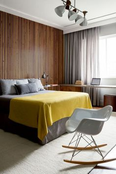 GREY AND YELLOW SHADES CREATES MODERN BEDROOMS | Be bold and use grey and yellow shades with wood furniture | www.bocadolobo.com #bedroomdecor #interiordesign