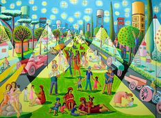 רפי פרץ ציור נאיבי עכשווי מחווה לצייר יוחנן סימון raphael perez naive painting after yohanan simon - TheMarker Cafe