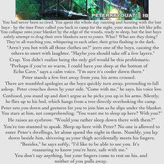 <<I'm actually crying at how beautiful this is Peter Pan Ouat, Robbie Kay Peter Pan, Peter Pan Fanfiction, Peter Pan Imagines, Once Upon A Time Peter Pan, Disney Songs, Disney Quotes, Protective Boyfriend, Tom Holland Imagines