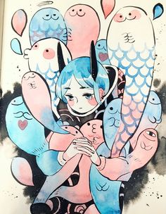 Pretty in love with this style of art ○ANproplaza (@maruti_bitamin) | Твиттер
