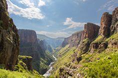 Maletsunyane River Valley, Lesotho © Hannest | Dreamstime