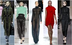 High Collars. First seen at Milan Fashion Week, the Edwardian era of high collars continued on to the runways of Paris.