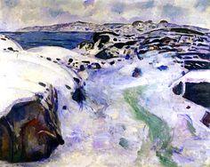 Winter on the Coast Edvard Munch - 1915