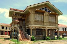 Old house in philippine house patterns filipino house. Filipino Architecture, Philippine Architecture, Architecture Old, Old House Design, Cool House Designs, Filipino House, Philippine Houses, House Plans With Pictures, Bamboo House