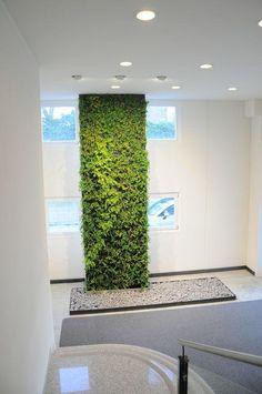 Muro verde con follaje artificial muro verde pinterest for Jardin vertical mercadolibre