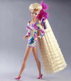 Totally Hair Barbie 31 Awesome toys you never got but can still buy. So it says, but I had a lot of this stuff when I was a kid, like this Barbie. ^_^ See how much you remember and what you had! Omg I LOVED this Barbie Barbie Style, Barbie I, Barbie World, Barbie Dress, Barbie Toys, Pink Dress, My Childhood Memories, Childhood Toys, Totally Hair Barbie