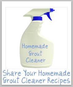 Grout & tile cleaner.