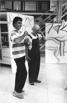Paul McCartney and Willem de Kooning  in 1984.