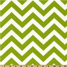 ZigZag Chartreuse/White