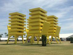 Katrina Chairs, Alex Arrecha at Coachella Music & Art Festival 2016 Festival 2016, Art Festival, Public Art, Coachella, Chairs, Sculpture, Music, Musica, Musik