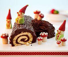 Bûche de Noël Biscuits, Köstliche Desserts, Caramel Apples, Tasty, Favorite Recipes, Sweets, Snacks, Dishes, Creme