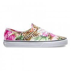 a7c85be1ac8 Vans Authentic Shoes (Hawaiian Floral) White - Vans UK Official Online Store
