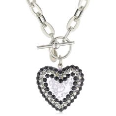 "Tarina Tarantino ""Classic"" Jet Heart Toggle Necklace"
