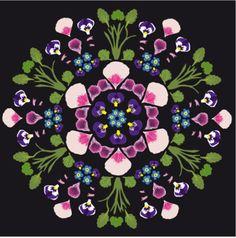 Modernized floral folklore by Lotta Kühlhorn