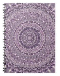 Purple feather mandala notebook