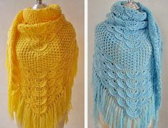 Crochet Shawls: Crochet Shawl Pattern - Wonderful Shawl For Chic Women