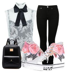 """""""good day"""" by nataleigh56 ❤ liked on Polyvore featuring MM6 Maison Margiela, Philosophy di Lorenzo Serafini and Converse"""