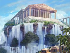 Atlantida. Center of the city by AppleSin.deviantart.com on @deviantART