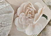 1950's Vintage Fabric Flower Millinery Hat Dress White Pique W/ Tag