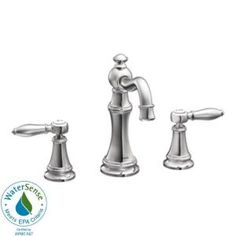 Weymouth 8 in. Widespread 2-Handle High-Arc Bathroom Faucet Trim Kit in Chrome-TS42108 at The Home Depot