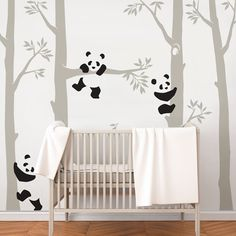 Tree with Pandas Wall Decal, Panda Wall Decal, Panda Tree for Baby Nursery, Kids or Children Room Decals Baby Bedroom, Baby Boy Rooms, Baby Room Decor, Baby Boy Nurseries, Kids Bedroom, Nursery Wall Decals, Nursery Room, Wall Decals For Kids, Nursery Themes