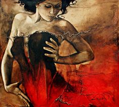 'Fire In The Flame' | Art of Lidia Wylangowska | http://www.lidiawylangowska.com