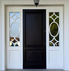 Fresh Black Entry Doors with Glass