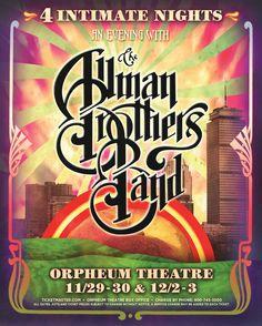 poster design - Allman Brothers Band • Orpheum Theatre • Boston, MA • Nov 29 - Dec 3, 2011