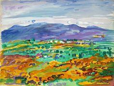 Robert SAVARY Vue sur les collines de Grasse  Côte d'Azur   #Alpes-Maritimes #Provence-Alpes-Côte d'Azur  #Grasse