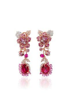 Tourmaline Rose Earrings by Anabela Chan
