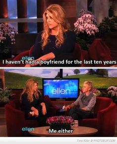 Gotta love Ellen for staying true to herself and for being funny in the process!