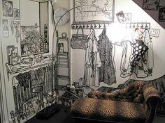 Wände gestalten Ideen - die Wandbilder von Charlotte Mann