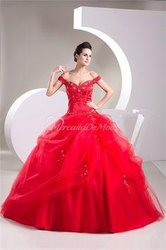 barrido tren vestido de fiesta de gasa del hombro #vestidosdebaile #vestidosde15años  #vestidodefiesta