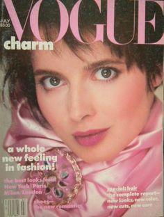 Vogue US July 1985 Isabella Rossellini Cover - VOGUE USA 1985 - Vintage Fashion Publications