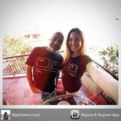 Tal pai, tal filha! Super caso de clone bem sucedido, nossos queridos parceiros ❤ @jphbittencourt @camisadimona #talpaitalfilha #ctrlcctrlv#dimonabylemodiste #felizdiadospais