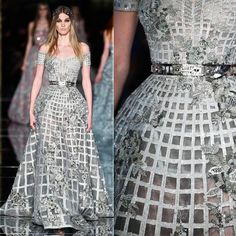 """#ZuhairMurad might have skewed this time towards stiffness but the fairy-tale effect he's knows for will always prevail #HauteCouture #spring2016…"""