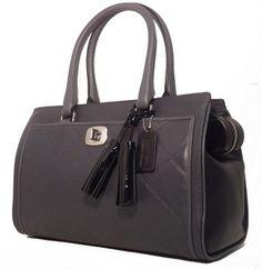 Coach Chelsea Legacy/25826 Gray/Blk Bag - Satchel $164