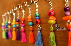 #jewelry #bijuterie #boho #hippy #keychain #fashion   http://www.facebook.com/skunk.accessories