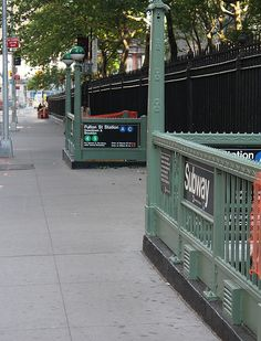 New York Subway - entrances on Church Street at St. Paul's Chapel