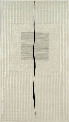 """Interesting in its simplicity: """"Quilt Drawing #9"""" by Daphne Taylor."""