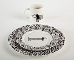 dachshund dinnerware set | like, love, want