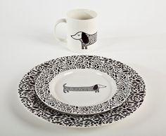 dachshund dinnerware set   like, love, want